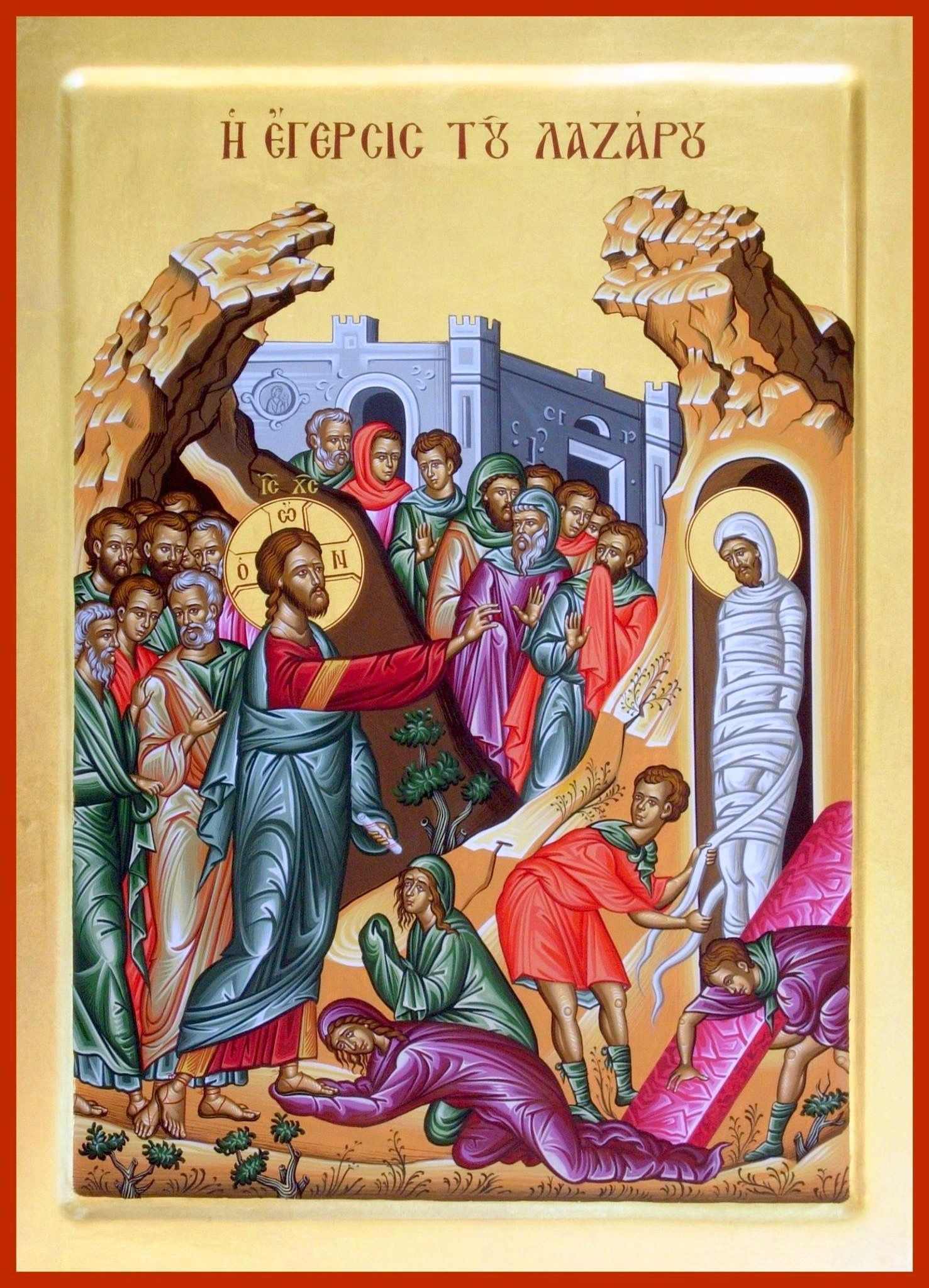 The Icon of the Saturday of Lazarus